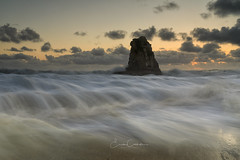 Rush (Erick Castellón) Tags: waves seascape davenport cal california oceanscape sunset clouds rush beach