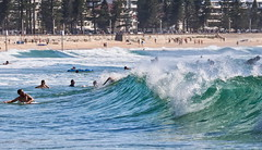 63+484: Body on the line (geemuses) Tags: manlybeach manly nsw sun sand sea surf beach wave waves foam lip surfing surfer surfers girls landscape photo canon