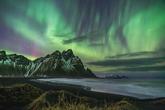 'Vestrahorn Aurora' - Iceland (Kristofer Williams) Tags: night sky stars nightscape aurora northernlights vestrahorn stokksnes landscape beach coast sanddunes sony