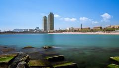 Landscape BCN Long Exposure (bienve958) Tags: filtrond litoralbcn largaexposicion paisaje landscape water cityscape beach bcn portolimpic city densidadneutra nd1000 sky neutraldensity nd30filter haida