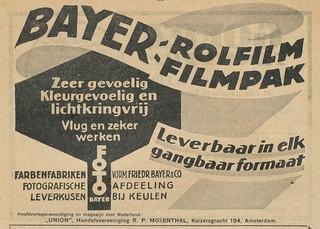 Bayer Rolfilm Advertisement Januari 1922 (01)