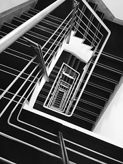 Mono (Jacko 999) Tags: stair master stairs spiral black white mono robert eede iphone 6splus