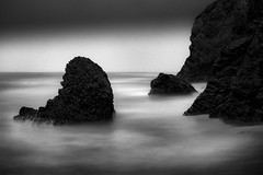 Pacific Empire (StefanB) Tags: 1235mm 2016 california coast em5 geotag longexposure monochrome outdoor pacifc pacific sea seascape cowellranchbeach