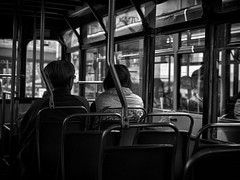 One day, when we are at that age... (cyangLtravel) Tags: people bw tram hongkong aged elderly couple lifestyle