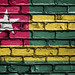 National Flag of Togo on a Brick Wall