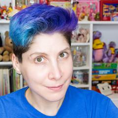 04.04.17 (sciencensorcery) Tags: bluehair purplehair selfportrait