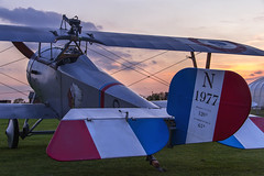 N 1977 (Kev Gregory (General)) Tags: timeline events sunset night shoot stow maries great war aerodrome maldon essex world one wwi raf rfc royal flying corp air force sqn squadron biplane aircraft aeroplane historic kev gregory canon 7d nieuport 17 no n1977