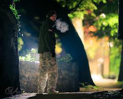 Night (andrew evans.) Tags: portrait strobist night bokeh nikon man flash self strobe f20 200mm pocketwizard d3