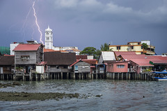 First and only (pietkagab) Tags: penang georgetown quay quays storm thunder tropical malaysia island town lightning sky stormy wooden houses chinese fishing village blue asia southeast pietkagab photography piotrgaborek pentax pentaxk5ii travel trip tourism sightseeing adventure outdoors weather