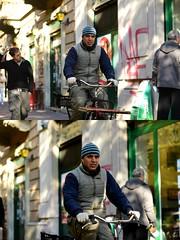 [La Mia Città][Pedala] (Urca) Tags: milano italia 2016 bicicletta pedalare ciclista ritrattostradale portrait dittico bike bicycle nikondigitale scéta 959
