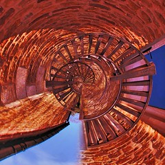 External Stone Steps Extreme - Hambleton (unclebobjim) Tags: tinyplanet rutlandwater stonesteps bannisters photoscapex square squarecrop composite compositeabstract hdrcomposite 3exhdr 3exposures greatphotopro spiral infinity effect stonewalls skyblue woodenhandrails colourfilloverlay cafeteria threshold hambletonnroakham sharingart