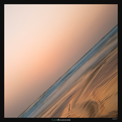 Drunk (Ilan Shacham) Tags: sea beach landscape seascape tilted across diagonal sunset reflection abstract minimalism maayanzvi israel mediterranean fineart fineartphotography