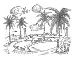 Blimp Race Maui (rod1691) Tags: bw scifi alien greys concept custom car retro space hotrod draing pencil original story fantasy funny automotive art illistration greyscale moonpie hawaii maui