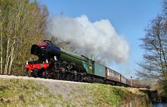 Scotsman And A Semaphore. (neilh156) Tags: steam steamloco steamengine steamrailway railway 60103 flyingscotsman brackenbank damems keighleyworthvalleyrailway kwvr worthvalleyrailway a3pacific gresleya3 lnerpacific pacificloco gresleypacific lner gresley