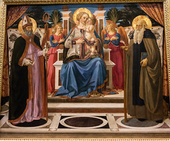 Galleria degli Uffizi. Cosimo Rosselli. Madonna and child Enthroned with Angels, St. Nicholas and St. Anthony the Abbot (Svetla (ribonka 78)) Tags: uffizi museum travel florence firenze italy