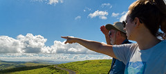 From the overlook (LeftCoastKenny) Tags: chile easterisland isladepascua day18 orongo overlook grass guide tourist clouds rapanuinationalpark