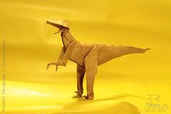 Fumiaki Kawahata - Deinonychus (IverRu) Tags: iver kawahata dinosaur deinonychus origami динозавр оригами дейноних