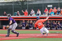 Flying home (RPahre) Tags: baseball illinois universityofillinois urbana northwestern run home homeplate score