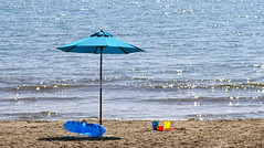 Fun in the sun (SteveJM2009) Tags: seaside beach bucket spade ring umbrella sunshade sand bournemouth dorset uk sun sunny hot shadow april spring 2017 stevemaskell