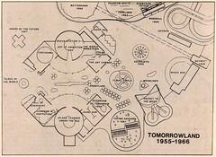 Tomorrowland, 1955-1966 (Tom Simpson) Tags: tomorrowland 1955 1966 1950s 1960s vintage vintagedisney disneyland vintagedisneyland map illustration