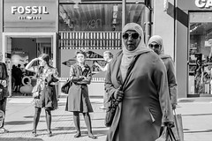 Crossing 0417045 (meriwaniart) Tags: two ladies crossing road oxford street london april 2017 meriwani art photography streetphotography