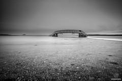 Belhaven bridge (w.mekwi photography [here & there]) Tags: fineart longexposure landscape belhaven eastscotland water blackandwhite horizon leebigstopper bassrock bridgetonowhere nikond800 wmekwiphotography