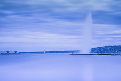 Minimalist but Iconic (Maximecreative) Tags: select lake blue water jet calm serene minimalist cloudy sky harbour lighthouse switzerland city geneva iconic simplicity lakefront famous spring landscape cityscape longexposure canon atmospheric quiet