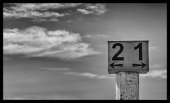 Anyway (Ramon Quaedvlieg Photo) Tags: anyway blackandwhite blackandwhitephotography sky clouds ijmuiden netherlands one two arrow sign abstract
