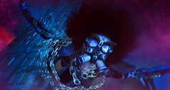 For the Ultraviolet (Jinx Jinx) Tags: jinx jinxjinx eve tonktastic ro remarkableoblivion apoc roquaiposes roquai sanmora drd fantasyfaire deathrowdesigns goggles respirator gasmask chains falling diving skyrise skyscraper building fantasy blue