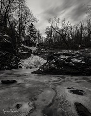 The winter is a different type of beautiful. (SpencerTheCookePhotography) Tags: snow ice frozen trees winter landscape nature outdoors canon 5dmarkiv longexposure cunninghamfallsstatepark maryland explore blackandwhite