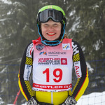 April 15th, 2017 - Cassidy Gray of Canada takes second place in the U16 McKenzie Investments Whistler Cup Womens Slalom- Photo By Jon Hair - coastphoto.com