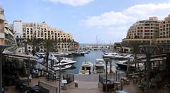 Panorama of an exclusive bay (Majorimi) Tags: canon eos 70d digital color colorful nice panorama malta island spring sea boat bay port ship exclusive