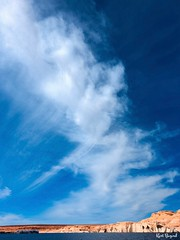 Big Sky. Navajo Canyon Lake Powell Arizona (Travel to Eat) Tags: lakepowell page arizona reflections sky redrocks nature water desert