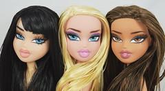 First ever Bratz repaints by me! (DollTheRage) Tags: bratz dolls repaint 2015 2017 sealant mr super clear prismacolor pencil paint art faces makeup beauty