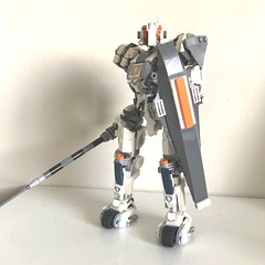 Lance's ultimate battle suit with sheild #nexoknights #moc #mech (Catpipe Creations) Tags: nexoknights moc mech