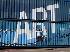 Art is in da House (pxlline) Tags: zürich bw jump zhwelt dasischzüri street switzerland art me ch