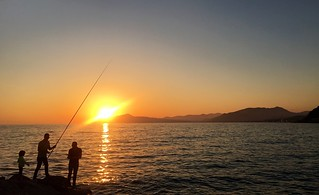Fishing the sunset