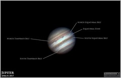 Jupiter on April 8, 2017 (Tom Wildoner) Tags: tomwildoner leisurelyscientistcom leisurelyscientist planet jupiter solarsystem clouds belts zones astronomy astrophotography astronomer asi290mc zwo meade telescope celestron science sky space deepspace autostakkert registax april 2017 spring weatherly pennsylvania