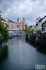 Prešeren Square and Ljubljianica River (Ljubljana-Slovenija)