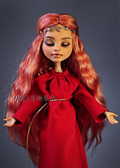 Maria (mrs.Melenka) Tags: melenka ooak custom doll repaint virgin collection figure howleen wolf mh monster high sword diadem crown red sleeping cute redhair