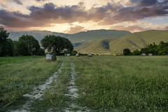 Abruzzo's countryside (Mario Ottaviani Photography) Tags: sony sonyalpha italy italia paesaggio landscape travel adventure nature scenic exploration view vista breathtaking tranquil tranquility serene serenity calm marioottaviani abruzzo countryside campagna sky clouds trees bale grass