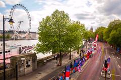 #LondonMarathon Long Exposure, April 2017 (Etienne Gaboreau) Tags: london marathon running londonmarathon londonmarathon2017 wesminster canon 5d markiii wheelchair race course londres thames river fleuve londoneye eye