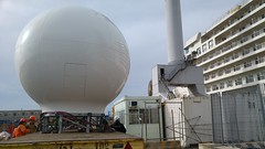C Band satellite antenna installation on Silver Muse (Luigi Rosa) Tags: silversea fincantieri genoa silver muse telenor