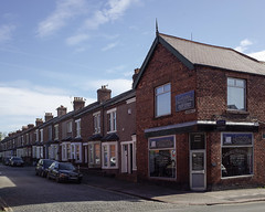 Not your usual corner shop (Allan Rostron) Tags: streets buildings carlisle cumbria shops headstones terracedhouses