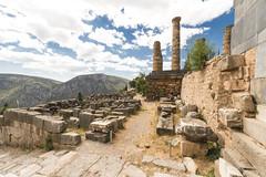 "Delphi, The Sacred Way - XIII – Apollo's Temple (egisto.sani) Tags: delfi sito ""late classical period"" tardo classico periodo"" xenodoros agathon ""apollo's temple"" ""temple apollo"" ""tempio di phocis focide delphi ""archaeological museum"" ""museo archeologico"""