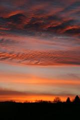 Burning Sky (2) (Korf-Adri) Tags: sun sunrise sunshine soleil lever journée matin matinée morning hello colors couleur couleurs orange sky cloud ciel clouds nuage nuages canon landscape fire