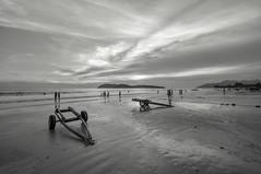 Boat Trailers on Cenang Beach (Arushad) Tags: arushad unmc arushadahmed beach cenang dash8x dusk kedah langkawi malaysia nottingham pantai rishwan rishwin sand sea sunset trailers waves