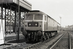 47273 is seen at Haymarket on 13-7-79. I Cuthbertson collection (I C railway photo's) Tags: class47 47273 duff haymarket