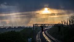 Meridian Storm (Peter Leigh50) Tags: rain storm shower wet cloud burst kilby bridge meridian leicestershire uk canon eos 6d april grey weather