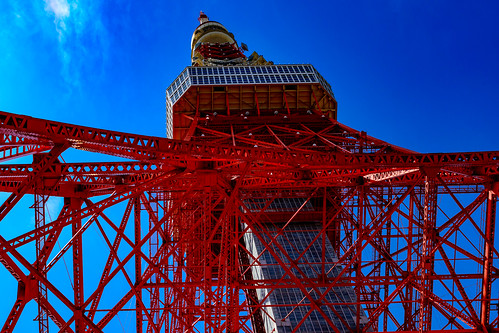 Tokyo Tower in The Blue Sky : 青空に東京タワー